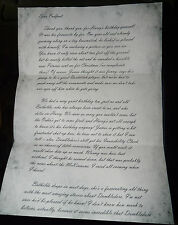 Harry Potter - Letter from Lily to Sirius - Reproduction/Copy