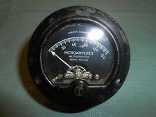 Vintage Mcclintock Dc Microamperes Meter Gauge Mr25 B 150 Dcua Model Md 2001