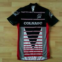 Parentini Colnago Vintage Short Sleeve Cycling Jersey Black /Red/White Size: S
