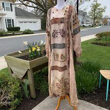 Rare designer Winant one off patchwork ren fair festival long kimono robe boho