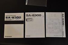 Manuale cartaceo ORIGINALE PIONEER SA-6300 ! TEDESCO FRANCESE
