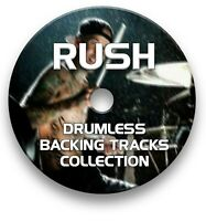 RUSH MP3 ROCK DRUMLESS DRUMS BACKING TRACKS COLLECTION ON CD