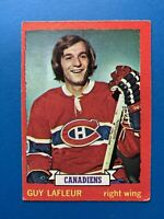 Guy LaFleur 1973-74 O-Pee-Chee Hockey Card #72 Montreal Canadiens OPC