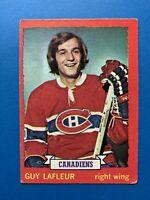 Guy LaFleur 1973-74 O-Pee-Chee Hockey Card #72 Montreal Canadiens OPC