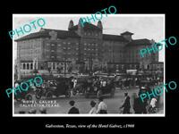 OLD LARGE HISTORIC PHOTO OF GALVESTON TEXAS, VIEW OF THE GALVEZ HOTEL c1900