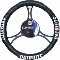 NFL New England Patriots Synthetic Leather Premium Steering Wheel Cover new