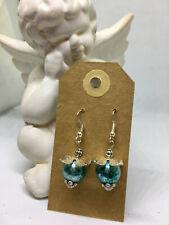Handmade earrings- blue filigree drop sparkle- cute gift