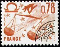 "FRANCE PREOBLITERE TIMBRE STAMP N°155 ""SIGNE DU ZODIAQUE, BALANCE "" NEUF xx TTB"