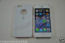 White Diamond PENDANT Style Bling iPhone SE 5S 5G 5 Designer Glitter Full Case