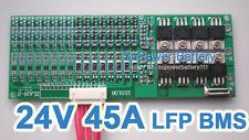 24V 25.6V 45A LiFePo4 Battery BMS LFP PCM SMT System 8S 3.2V eBike Battery 8x 3V