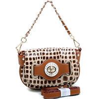 New Anais Gvani Women Handbag Faux Leather Purse Crossbody Bag Baguette BG/BR