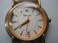 Fossil women's watch white leather band.quartz,battery & water resistant.Rm-2510