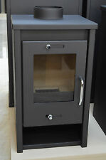 Wood Burning Stove 5-7 kW Solid Fuel Fireplace Log Burner Wood/Coal Small Size