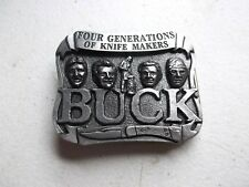Four Generations Of Knife Makers Buck Knifes Pewter Belt Buckle #950586