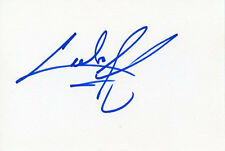AUTOGRAPHE SUR BRISTOL de Cuba GOODING Jr (index card signed in person)