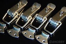 4x Edelstahl Spannverschluss Abschließbar 112mm Kisten/Box-Hebel-Verschluss