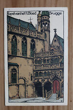 Belgien Künstler Steinzeichnung Litho AK Brugge Brügge 1920er Kapel H Bloed BE13