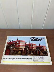 brochure prospekt PROSPECTUS GAMME TRACTEURS ZETOR 5647-5611...traktor-ursus-ih