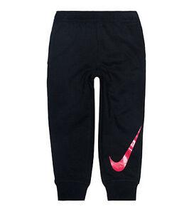 NIKE Boy's SWOOSH LOGO CUFF Sweatpants ** ANTHRACITE/ORANGE - 5 ** NWT