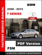 BMW 7 SERIES 2008 2009 2010 2011 2012 2013 2014 2015 SERVICE REPAIR FSM MANUAL