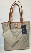 Tommy Hilfiger Womens Purse Tote Shoulder Bag Logo Pocketbook Casual Brown New