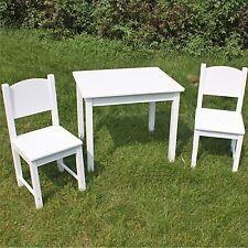 Tisch mit 2 Stühlen Kindertisch Kindermöbel Kindersitzgruppe Spielecke Holz weiß