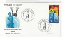 republique du dahomey 1968 exploration of the planet venus stamps cover ref20654