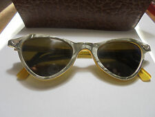 27698  fifties Sonnenbrille ROW Galalith 50er jahre DDR Design etui sun glasses