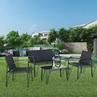 4 Piece Garden Furniture Bistro Set Patio Table Chair Set Poolside Outdoor