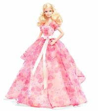 BARBIE DOLL PINK DRESS BARBIE COLLECTOR BIRTHDAY WISHES Ragazze Compleanno Regalo Natale