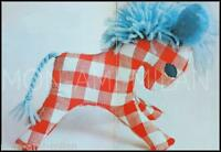 """CUTE PONY • HORSE • SOFT TOY • NOVELTY • 6"""" HIGH • CRAFT VINTAGE SEWING PATTERN"""