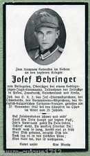 orig Sterbebild Gebirgsjäger-Jagdkommando  Behringer, Beilngries, Kreta,