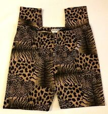 ADORE brand Size XL Animal Print Leggings with Smooth Snake Skin Texture Sheen