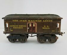VTG Ives Railway Lines #60 Express Service Baggage Mail Toy Train Car *Pre-War*
