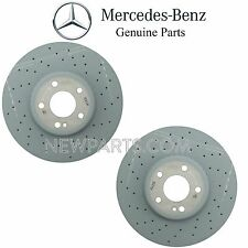 Mercedes W205 C300 C400 Pair Set of 2 Front Drilled & Vented Brake Discs Rotors