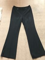 MARKS AND SPENCER LADIES BLACK WORK SUIT TAILORED TROUSERS SIZE 14 L