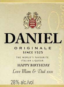 PERSONALISED DISARONNO AMARETTO BOTTLE LABEL - PARTY / BIRTHDAY / WEDDING