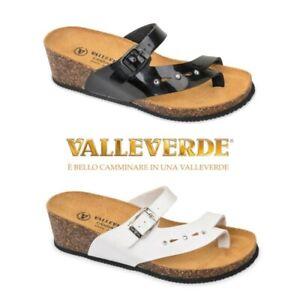 Valleverde - Ciabatta Donna Infradito - G51306 Nero Bianco Infra-alluce con zepp