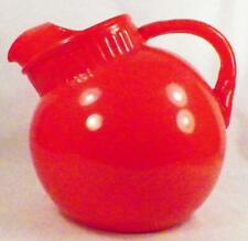 Anchor Hocking Rainbow Ball Pitcher Jug Orange Red Water Retro Vintage 1950s