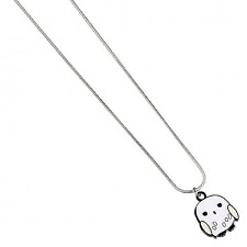 Official Licensed Harry Potter Silver Plated Hedwig Snowy Owl CHIBI Necklace