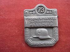 Hannover-Abzeichen 1.Regimentsappel 24-25 Sept.1921 LIR 73
