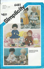 "S 6481 sewing pattern 14"" Baby DOLL CLOTHES sew Dress Pinafore Overalls Coat Hat"