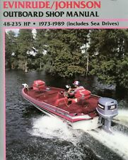 johnson evinrude 48-235hp 1973-1990 outboard service repair shop manual