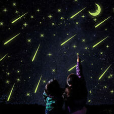 Luminous DIY Star Meteor Shower Glow In The Dark Moon PVC Wall Bedroom Stickers