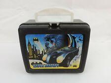 Batman Lunchbox BATMOBILE Batman & Robin Black Plastic LunchBox