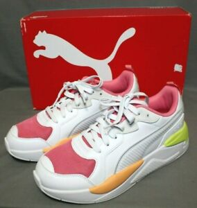 PUMA womens lace up X-RAY GAME style athletic shoe size 10 M white/bubblegum NEW