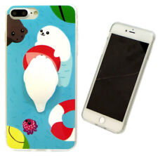 Custodia TPU flessibile LEONE MARE 3D cover SQUISHY per Apple iPhone 7 Plus 5.5""