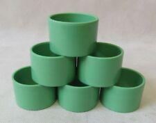 Original Vintage Art Deco 1930s Set of 6 Green Bakelite Napkin Rings