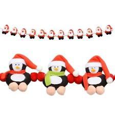 "32"" Long Fabric Penguin Character Garland Christmas Decoration"