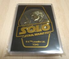 Han Solo A Star Wars Story Limited Edition Medal Coin Chewbacca Disney Japan
